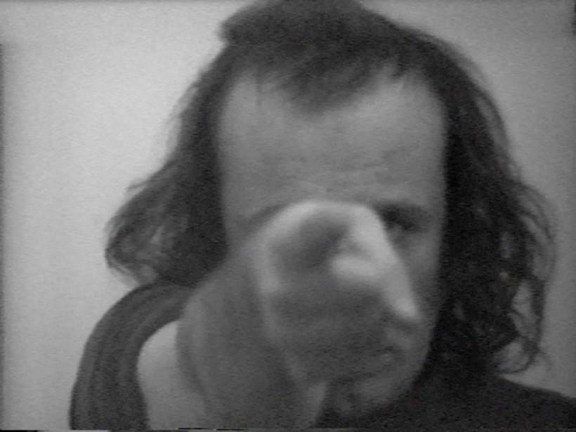 """Vito Acconci, Centers, 1971, B/W, Sound 22'50"""""""