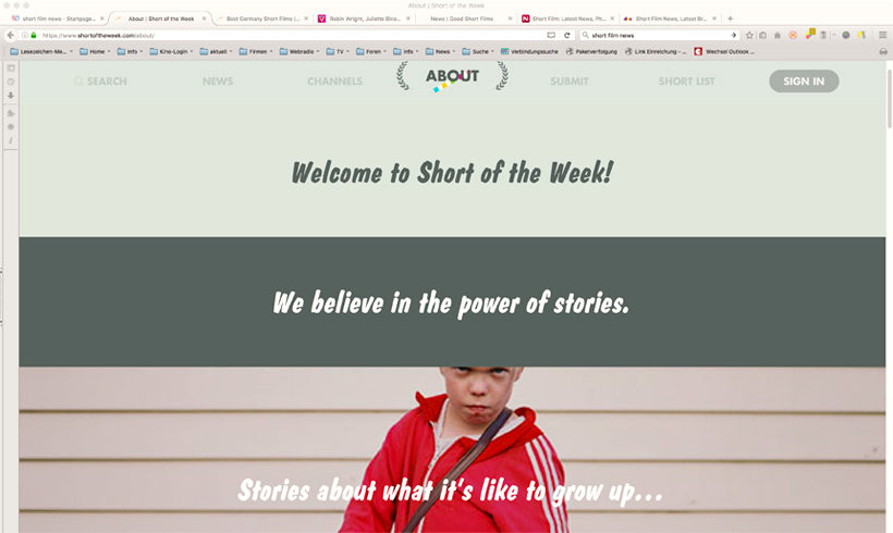 "Screenshot ""Short of the Week"" Zugriff am 16.05.2016"
