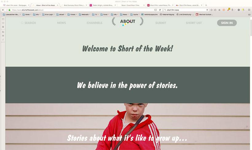 """Screenshot """"Short of the Week"""" Zugriff am 16.05.2016"""