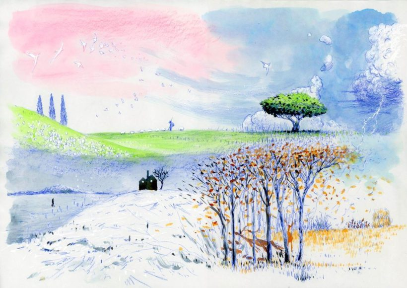 "Concept Art für das Projekt ""Four Seasons"" © Koji Yamamura"