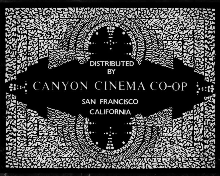 Alter Canyon Cinema Title designed by Bruce Conner ©Canyon Cinema Inc.