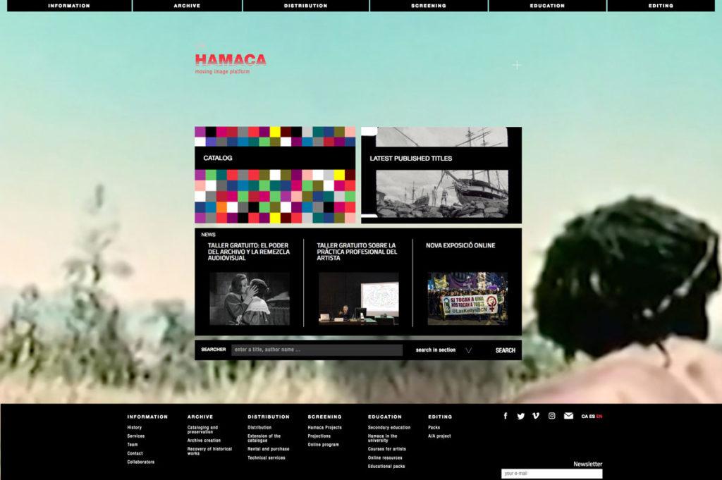Screenshot neue Website Hamacaonline